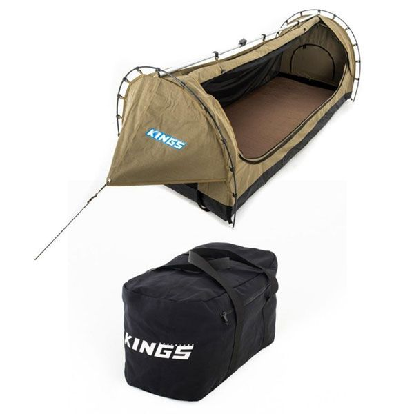 Kings Deluxe Escape Single Swag + 40L Duffle Bag