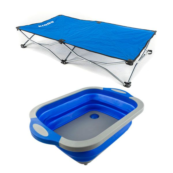 Kings Folding Pet Bed + Adventure Kings Collapsible Sink