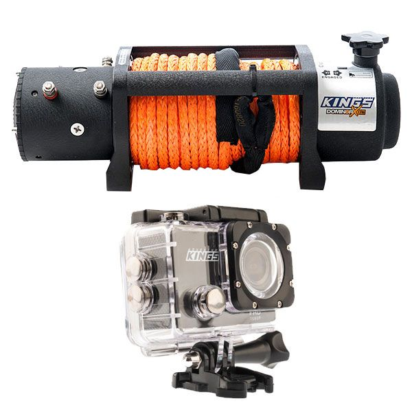 Domin8r X 12,000lb Winch with rope + Adventure Kings Action Camera