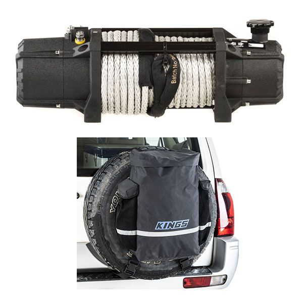 Domin8r Xtreme 12,000lb Winch + Kings Premium 48L Dirty Gear Bag