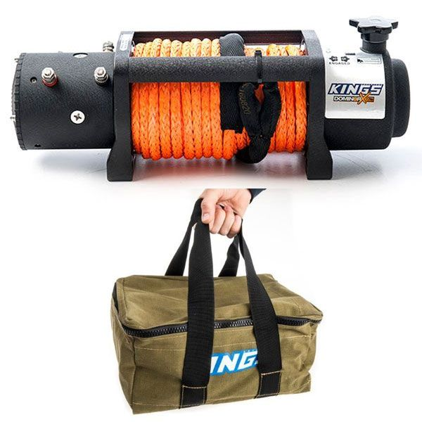 Domin8r X 12,000lb Winch with rope + Adventure Kings Canvas Recovery Bag