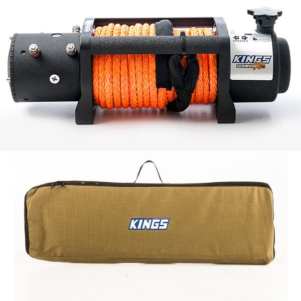 Domin8r X 12,000lb Winch with rope + Recovery Tracks Canvas Bag