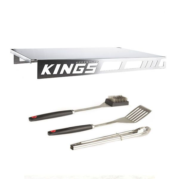 Adventure Kings Drawer Table suitable for 1070mm Titan Drawers + Kings BBQ Tools