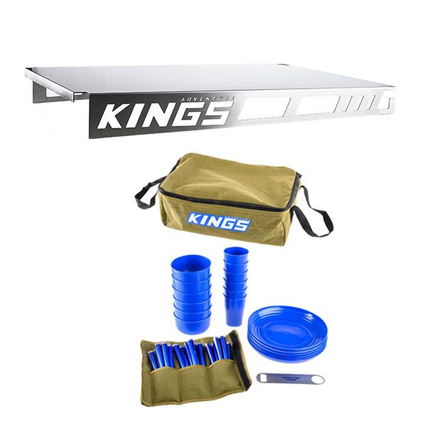 Adventure Kings Drawer Table suitable for 900mm & 1300mm Titan Drawers + 37 Piece Picnic Set