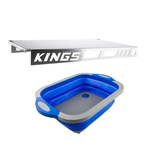 Adventure Kings Drawer Table suitable for 900mm & 1300mm Titan Drawers + Collapsible Sink