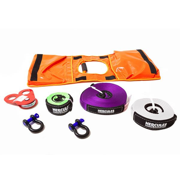 Hercules Essential Recovery Kit - 7-piece | Winch & Snatch Recoveries | Adventure Kings
