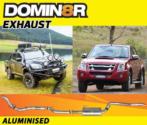 Domin8r Aluminised Exhaust Suitable For Holden Colorado RC & Isuzu D-MAX RC 3.0L 4 DR 8/2010-2012 (SWB 3050mm) (Turbo Back)