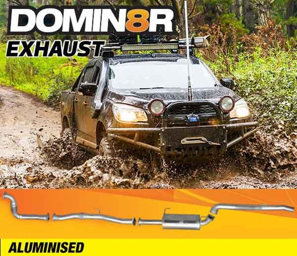 Domin8r Aluminised Exhaust Suitable For Holden Colorado RG 2.8 L All Bodies 2012-06/2016 (Turbo Back) - Suits 4x4 Models Only