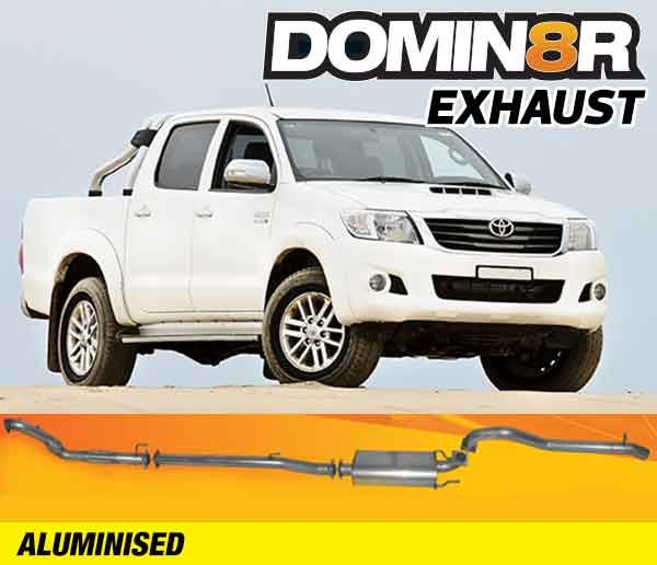 Domin8r Aluminised Exhaust Suitable For Toyota Hilux KUN26R D4D 3.0L All Bodies 2005+ (Turbo Back)