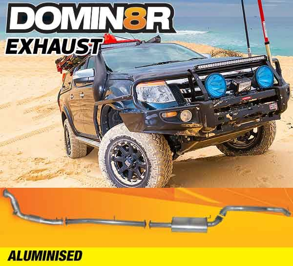 Domin8r Aluminised Exhaust Suitable For Mazda BT50 UP-UR & Ford Ranger PX-PXII 2.2L All Bodies 2011-07/2016 (Turbo Back)