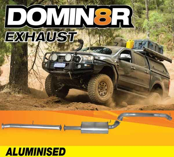 Domin8r Aluminised Exhaust Suitable For Ford Ranger PXII-PXIII 3.2L All Bodies 08/2016+ (DPF Back)