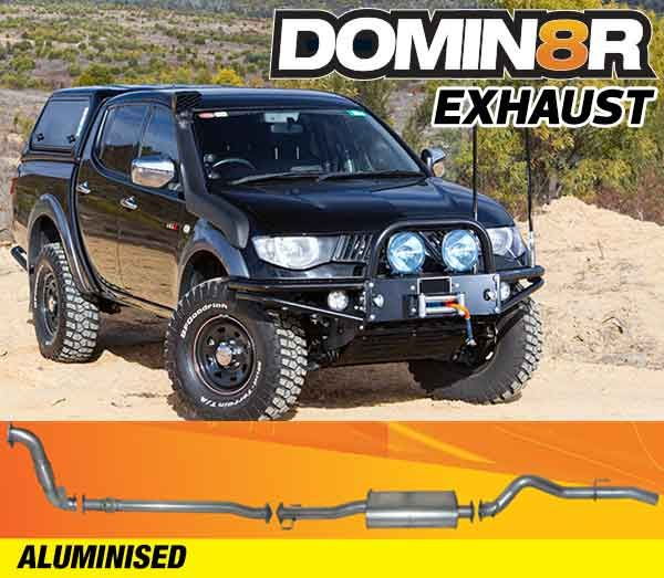 Domin8r Aluminised Exhaust Suitable For Mitsubishi Triton ML 3.2L All Bodies 2007-2010 (Turbo Back)