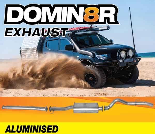 Domin8r Aluminised Exhaust Suitable For Mitsubishi Triton MQ-MR 2.4L All Bodies 2015+ (DPF Back)