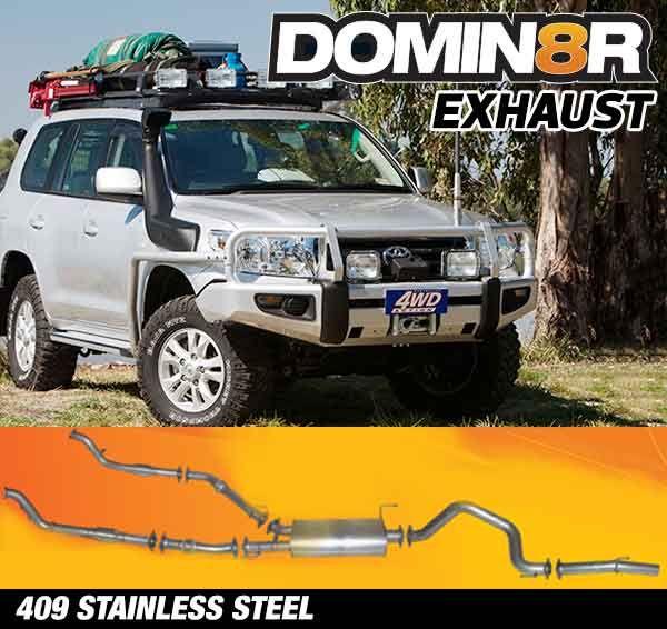 Domin8r Stainless Steel Exhaust Suitable For Toyota Landcruiser VDJ200R 4.5L V8 Twin Turbo 11/2007-07/2015 (Turbo Back)