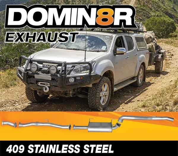 Domin8r Stainless Steel Exhaust Suitable For Isuzu D-MAX RT 3.0L 11/2016+ (DPF Back)
