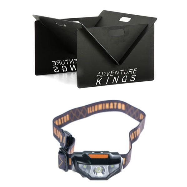 Kings Portable Steel Fire Pit + Illuminator LED Head Torch