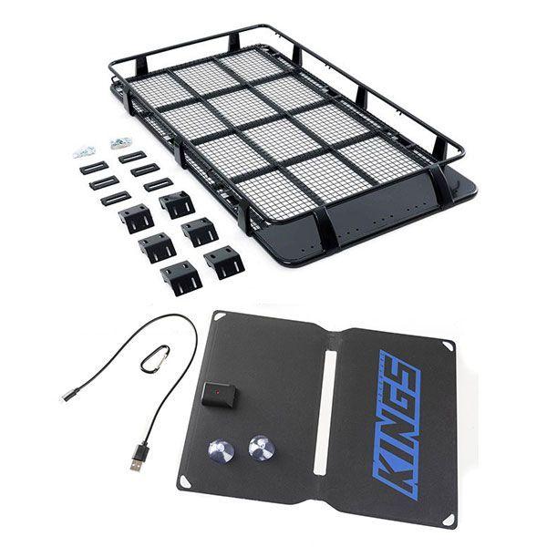 Full Length Steel Roof Racks + Adventure Kings 10W Portable Solar Kit
