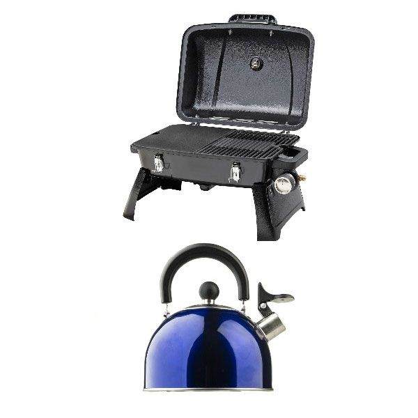 Gasmate Voyager Portable BBQ + Camping Kettle
