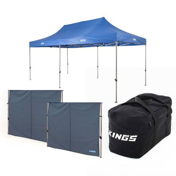 Adventure Kings - Gazebo 6m x 3m + 2x Adventure Kings Gazebo Side Wall + 40L Duffle Bag