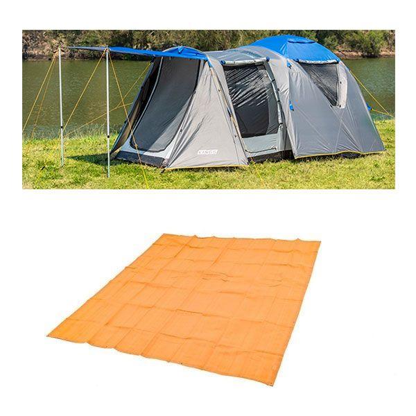 Adventure Kings 6 Person Geo Dome Tent + Mesh Flooring 3m x 3m