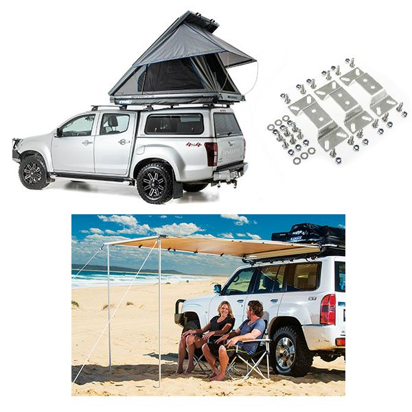 Grand Tourer MKII Aluminium Rooftop Tent + Adventure Kings Awning 2x2.5m + Awning bracket kit (for Grand Tourer RTT)