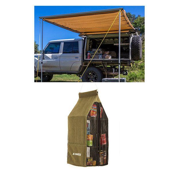 2x3m Waterproof Side Awning + Adventure Kings Hanging Pantry