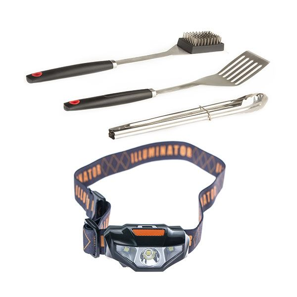 Adventure Kings BBQ Tool Set + Illuminator LED Head Torch
