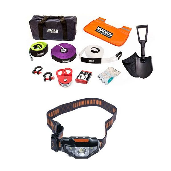 Hercules Complete Recovery Kit + Illuminator LED Head Torch