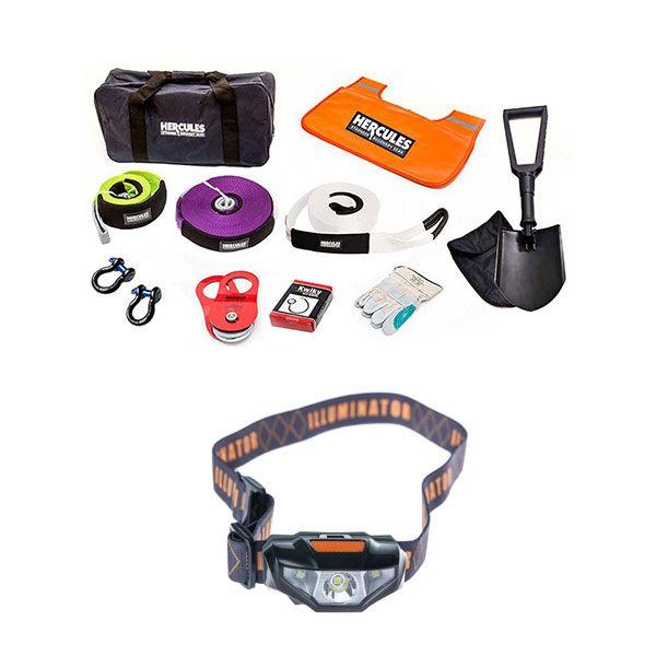 Hercules Complete Recovery Kit + Illuminator LED Head Torch