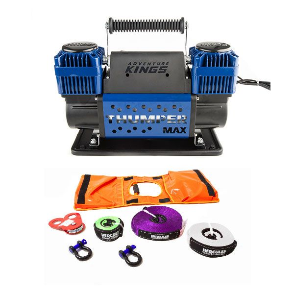 Hercules Essential Nylon Recovery Kit + Thumper Max Dual Air Compressor