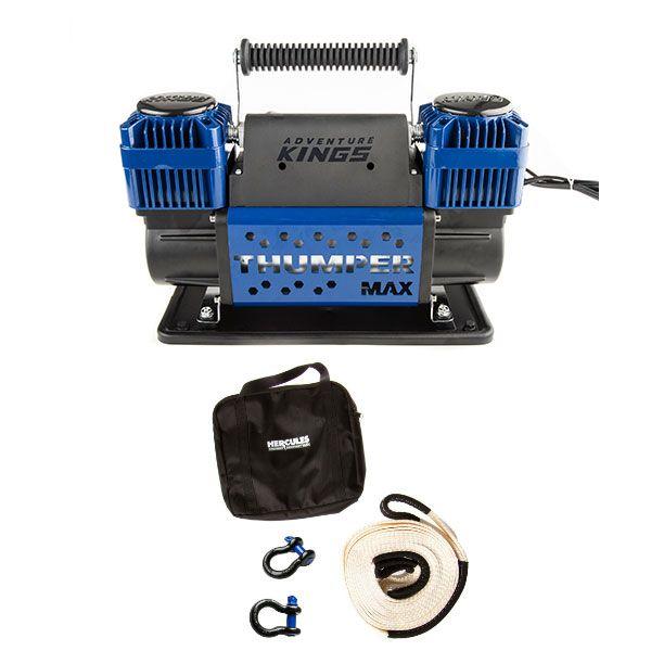Hercules Snatch Strap Kit + Thumper Max Dual Air Compressor