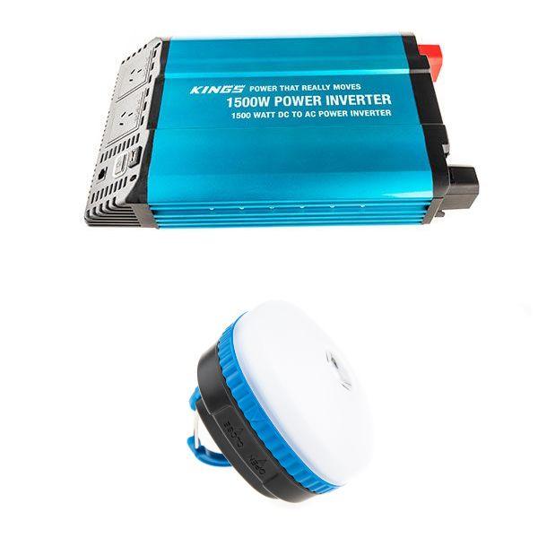 Adventure Kings 1500W Inverter + Mini Lantern
