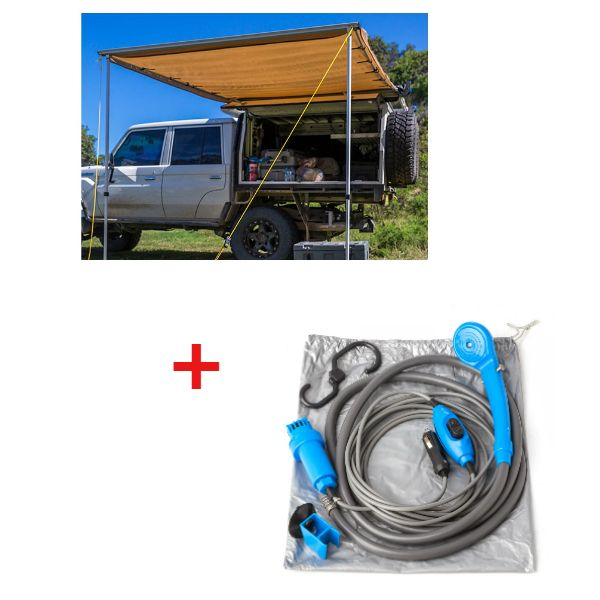 Adventure Kings Awning 2x3m + Adventure Kings Portable Shower Kit