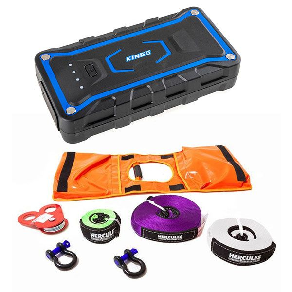 Hercules Essential Nylon Recovery Kit + Adventure Kings Jump Starter