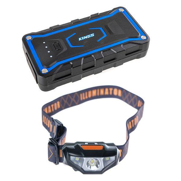 Adventure Kings Jump Starter + Illuminator LED Head Torch