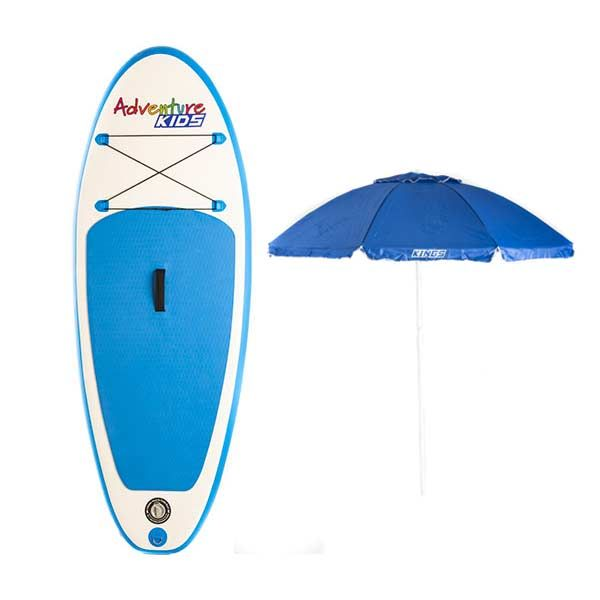 Kids Inflatable Stand-Up Paddle Board + Beach Umbrella