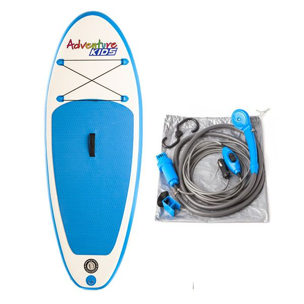 Kids Inflatable Stand-Up Paddle Board + Adventure Kings Portable Shower Kit