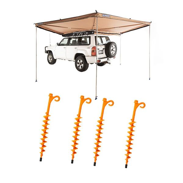 Adventure Kings 270° King Wing Awning + 4x GroundGrabba - Lite