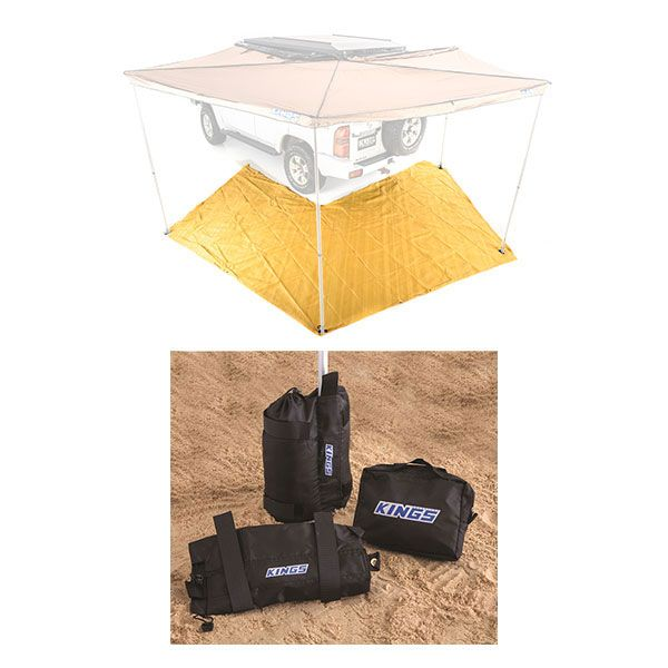 King Wing Mesh Floor + Awning Sand Bag Kit (pair)