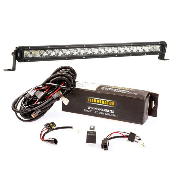 "Kings 20"" Slim Line LED Light Bar + Bar Wiring Harness"