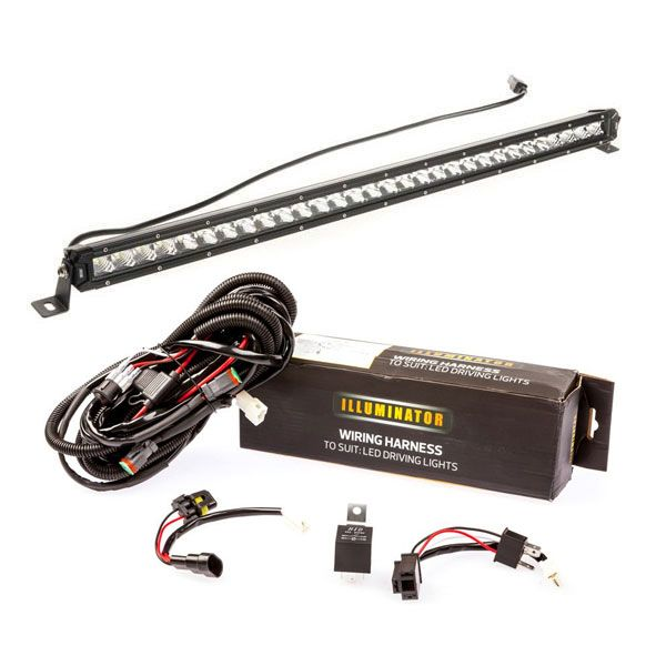 Kings 30 U0026quot  Slim Line Led Light Bar   Bar Wiring Harness
