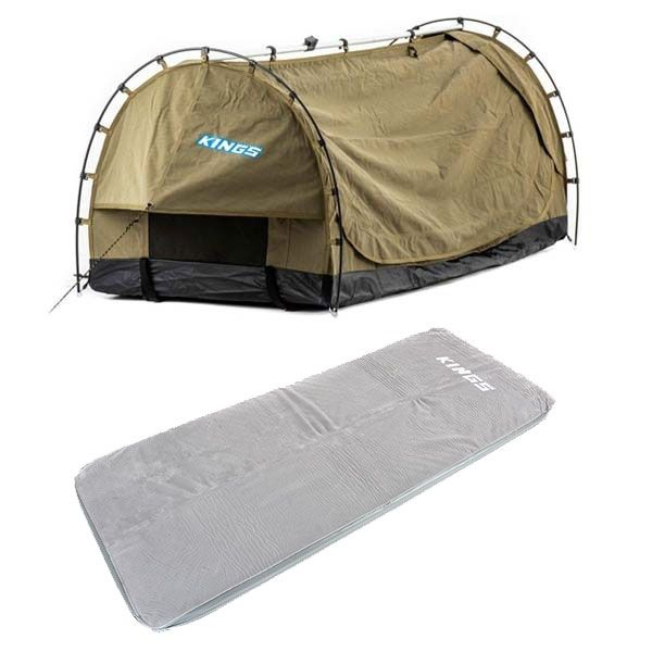 Kings Deluxe Escape Single Swag + Self-Inflating Foam Mattress - Single