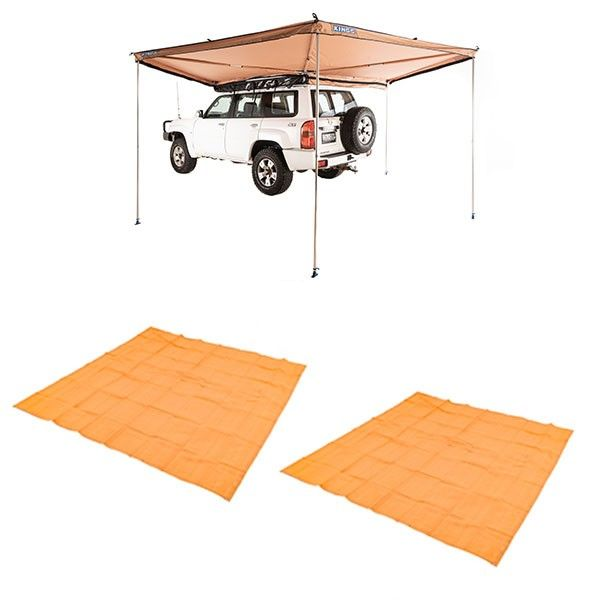 Adventure Kings 270° King Wing Awning + 2x Mesh Flooring 3m x 3m