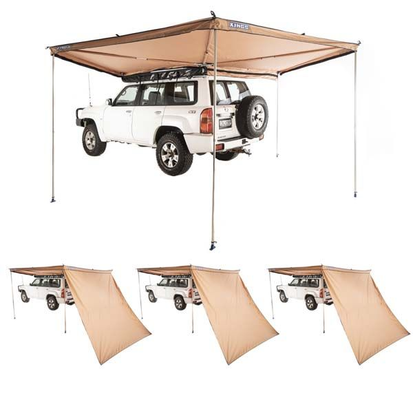 Adventure Kings 270° King Wing Awning + 3x 270° King Wing Awning Wall