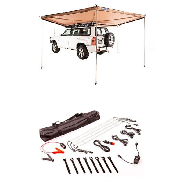 Adventure Kings 270° King Wing Awning + Illuminator 4 Bar Camp Light Kit