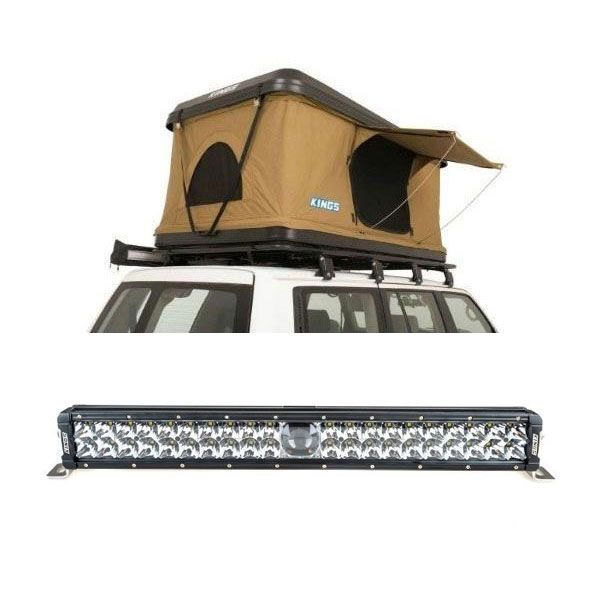 "Kings Kwiky MKII Hard Shell Rooftop Tent + 24"" Laser Light Bar"