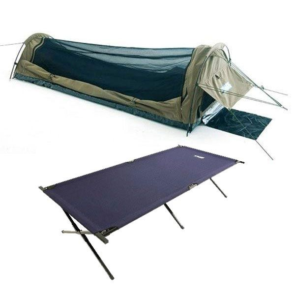 Adventure Kings Single Swag - Kwiky + Camping Stretcher Bed