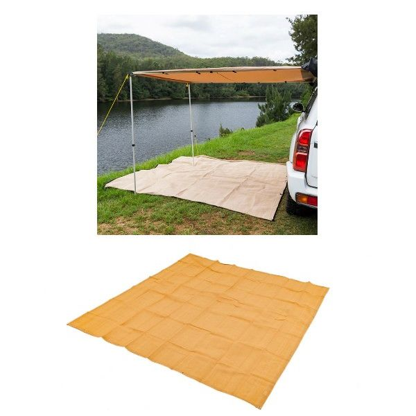 2 x 3m 2 in 1 Awning + Strip Light + Adventure Kings Mesh Flooring 3m x 3m