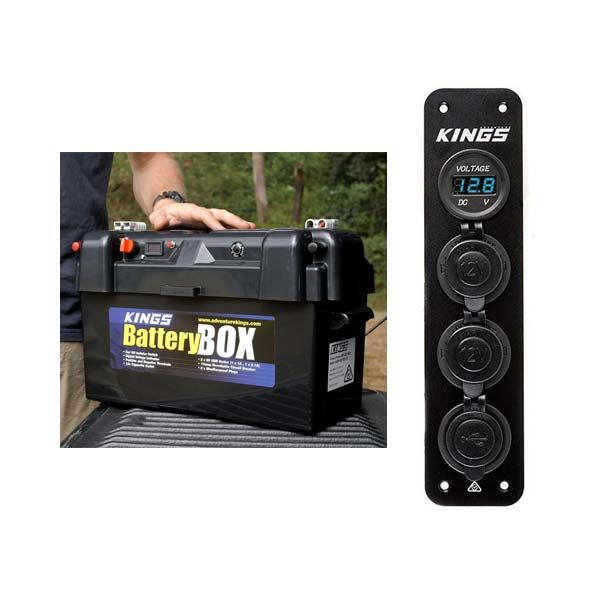 Adventure Kings Maxi Battery Box + Adventure Kings 12V Accessory Panel