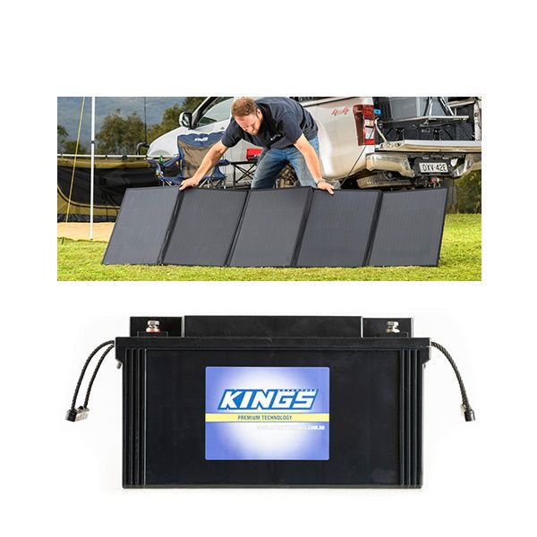 Adventure Kings 250W Solar Blanket + 138Ah AGM Deep-Cycle Battery